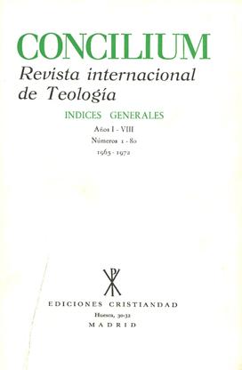 Revista concilium ediciones cristiandad 10 fandeluxe Choice Image