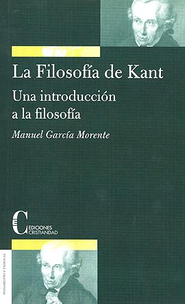 Filosofía de Kant, La García Morente, Manuel