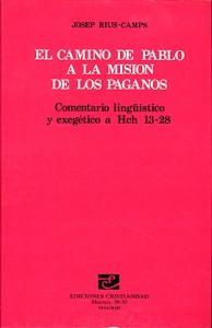 Camino de Pablo a la misión de los paganos: Hch 13-28